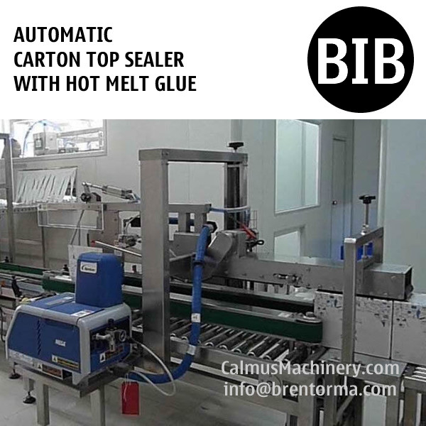 Automatic Hot Melt Glue Carton Box Sealer Bag-in-Box Case Sealing Machine