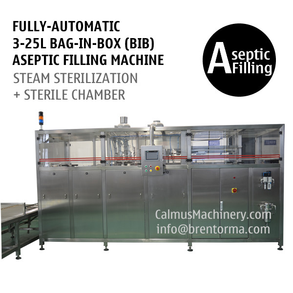 Fully-automatic 3-25L BIB Aseptic Filling System WEB Type Bag in Box Aseptic Filler