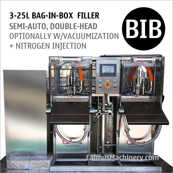 Semi-automatic Double-Head BIB Bag Water Filler Bag in Box Filling Equipment
